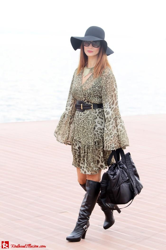 Redhead Illusion - Free Zone - Boho Style - Mix and Match Dress and Michael Kors Boots-08
