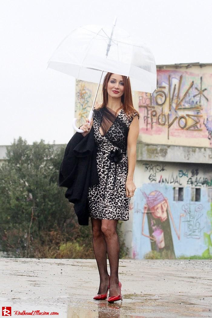 Redhead Iillusion - Fashion Blog by Menia - Rainy Day, Dream Away - Denny Rose Dress-05