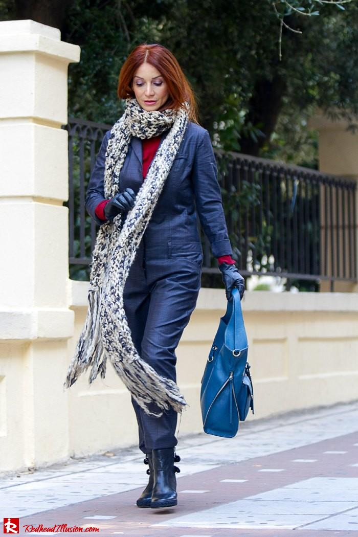 Redhead Illusion - Tomboy - Sisley Jumpsuit with knitted Scarf-02