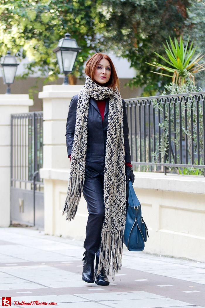 Redhead Illusion - Tomboy - Sisley Jumpsuit with knitted Scarf-03