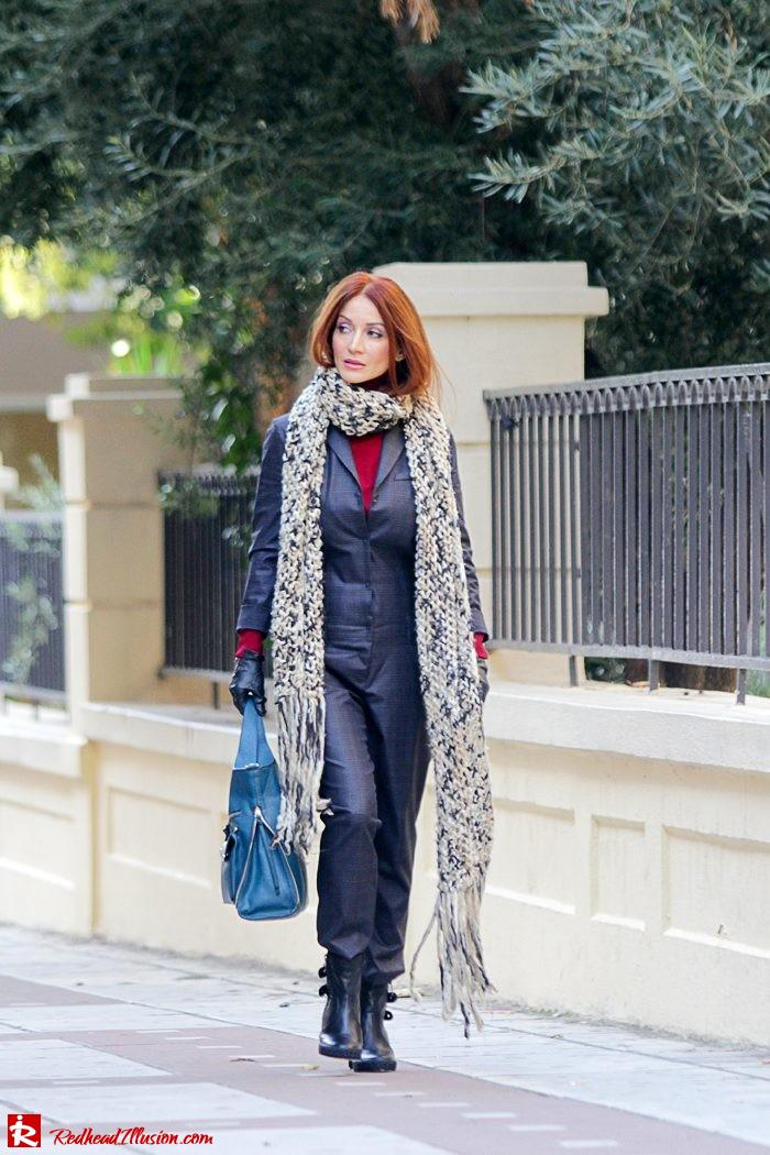 Redhead Illusion - Tomboy - Sisley Jumpsuit with knitted Scarf-05