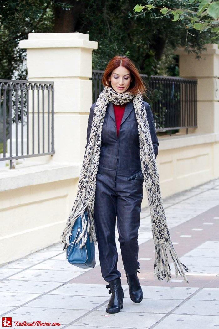 Redhead Illusion - Tomboy - Sisley Jumpsuit with knitted Scarf-06