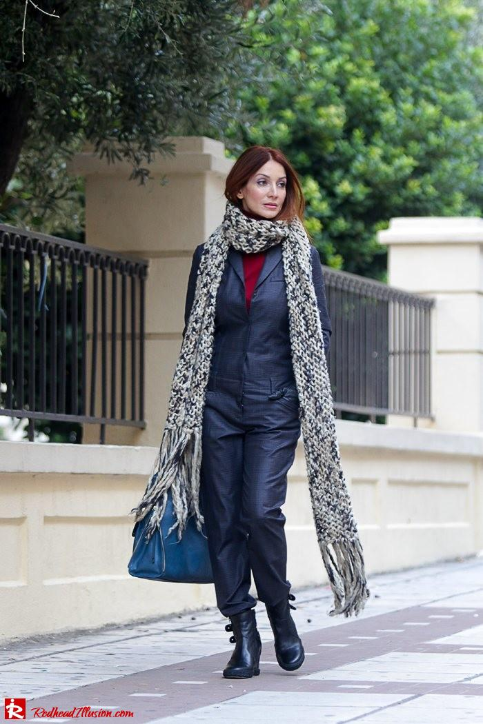 Redhead Illusion - Tomboy - Sisley Jumpsuit with knitted Scarf-08