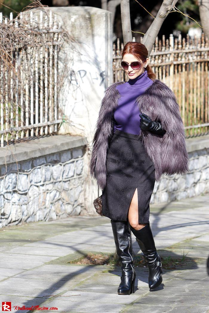 Redhead Illusion - Fashion Blog by Menia - Balance - Altuzarra Pencil Skirt with Supertrash Cape and Michael Kors Boots-02