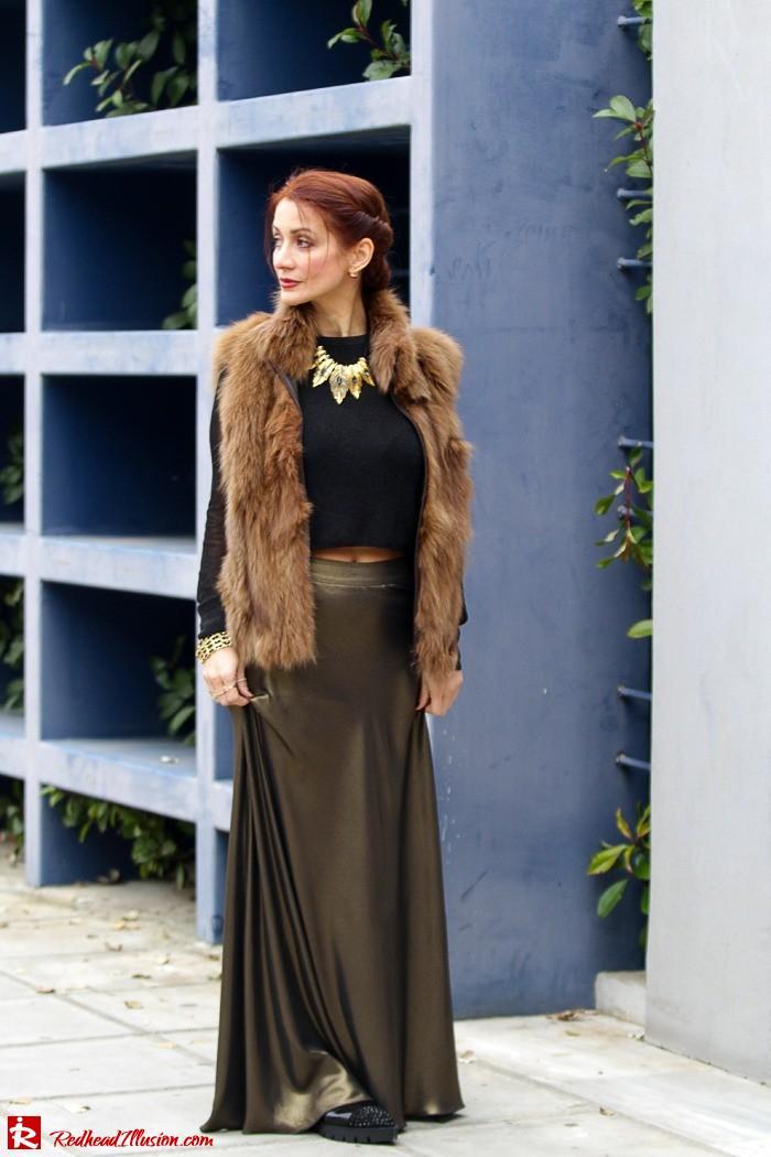 Redhead Illusion - Fashion Blog by Menia - Bronze Skirt - River Island Skirt-02