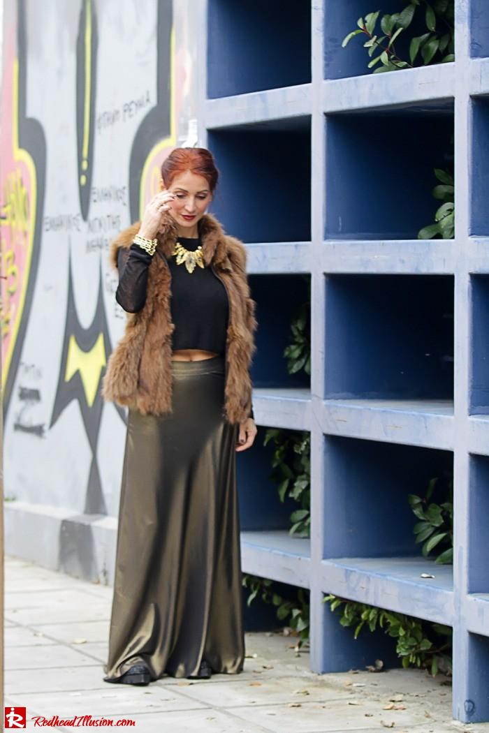 Redhead Illusion - Fashion Blog by Menia - Bronze Skirt - River Island Skirt-03