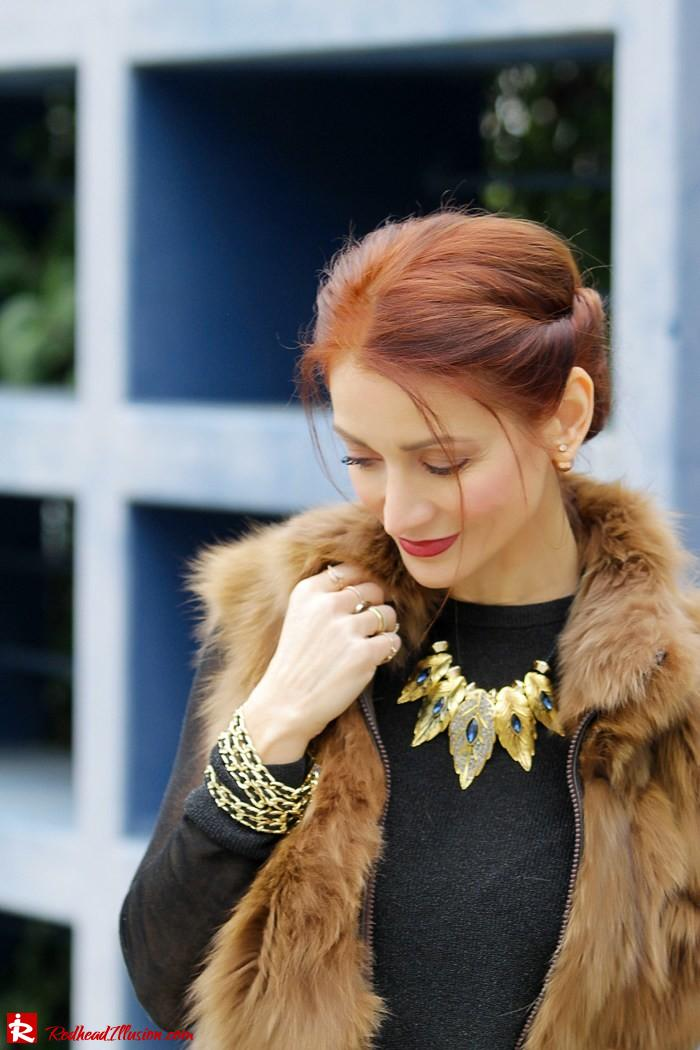 Redhead Illusion - Fashion Blog by Menia - Bronze Skirt - River Island Skirt-06