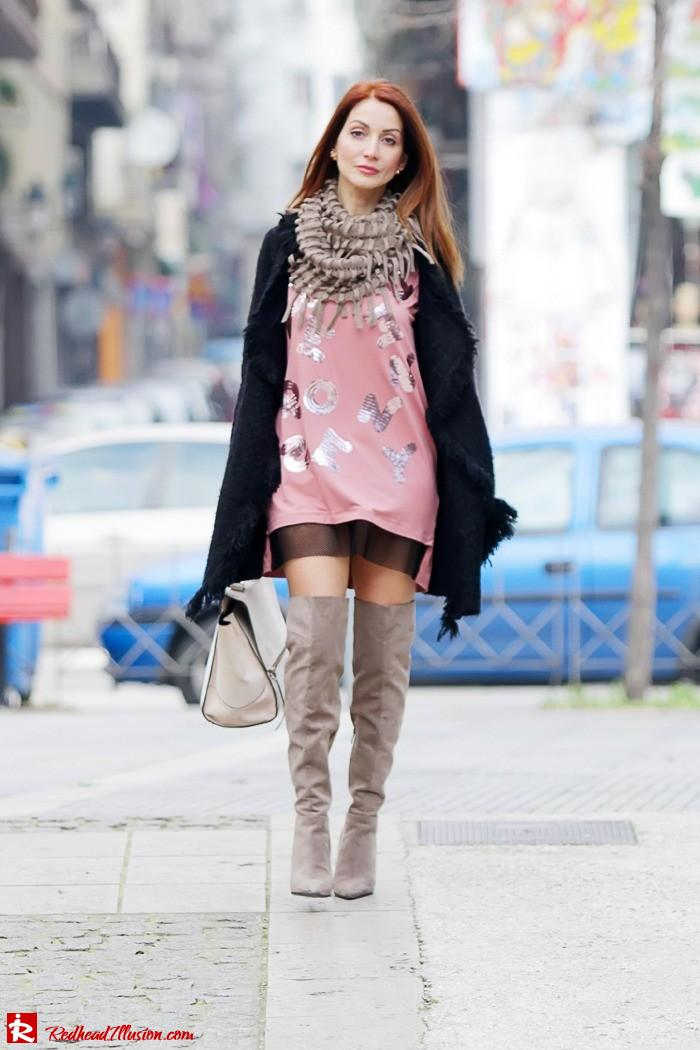 Redhead Illusion - Fashion Blog by Menia - High Obsession - Denny Rose Dress - Over the knee Boots-02