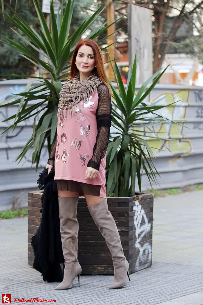 Redhead Illusion - Fashion Blog by Menia - High Obsession - Denny Rose Dress - Over the knee Boots-06
