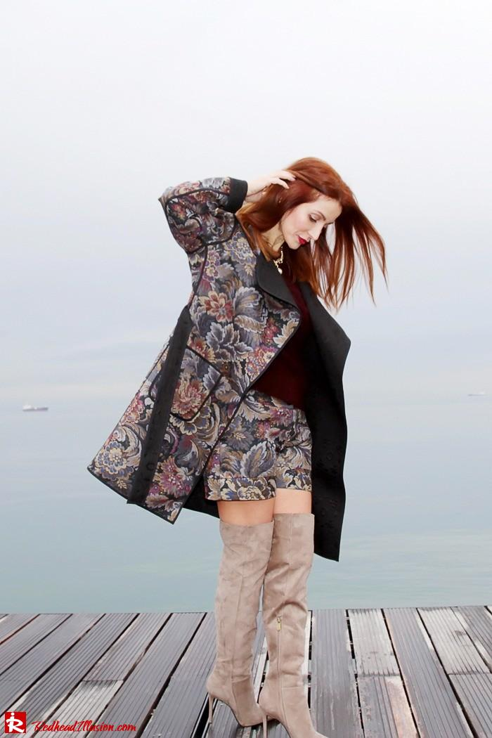 Redhead Illusion - Fashion Blog by Menia - Brocade - Access Total Look - Fedora Fashion-03