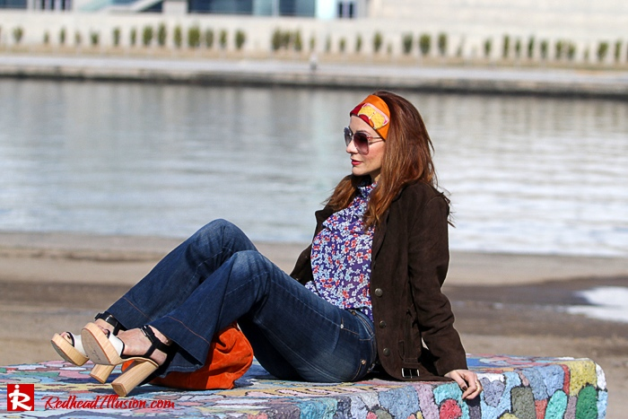 Redhead Illusion - Fashion blog by Menia - Flared Jeans - Denny Rose Jeans-10