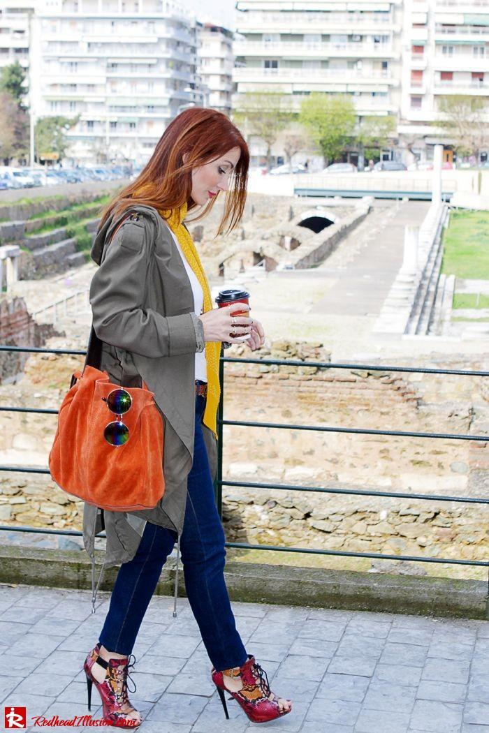 Redhead Illusion - Fashion Blog by Menia - Modern... walk in the Ancient Roman Market - Assos Parka Jacket-04
