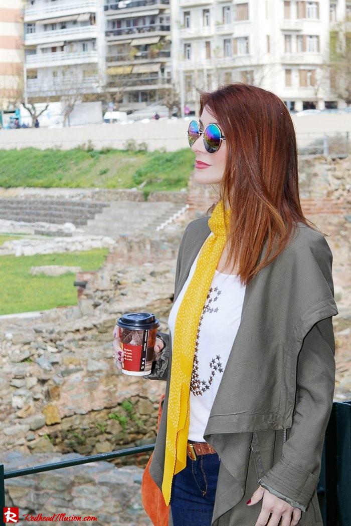 Redhead Illusion - Fashion Blog by Menia - Modern... walk in the Ancient Roman Market - Assos Parka Jacket-09