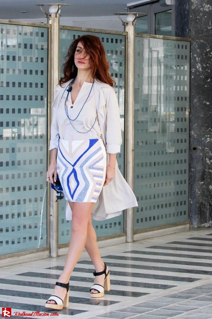 Redhead Illusion - Fashion blog by Menia - Embroidered Skirt - H&M-02