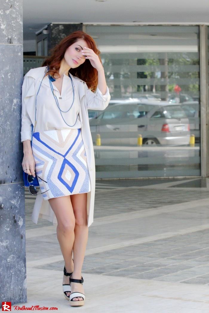 Redhead Illusion - Fashion blog by Menia - Embroidered Skirt - H&M-03