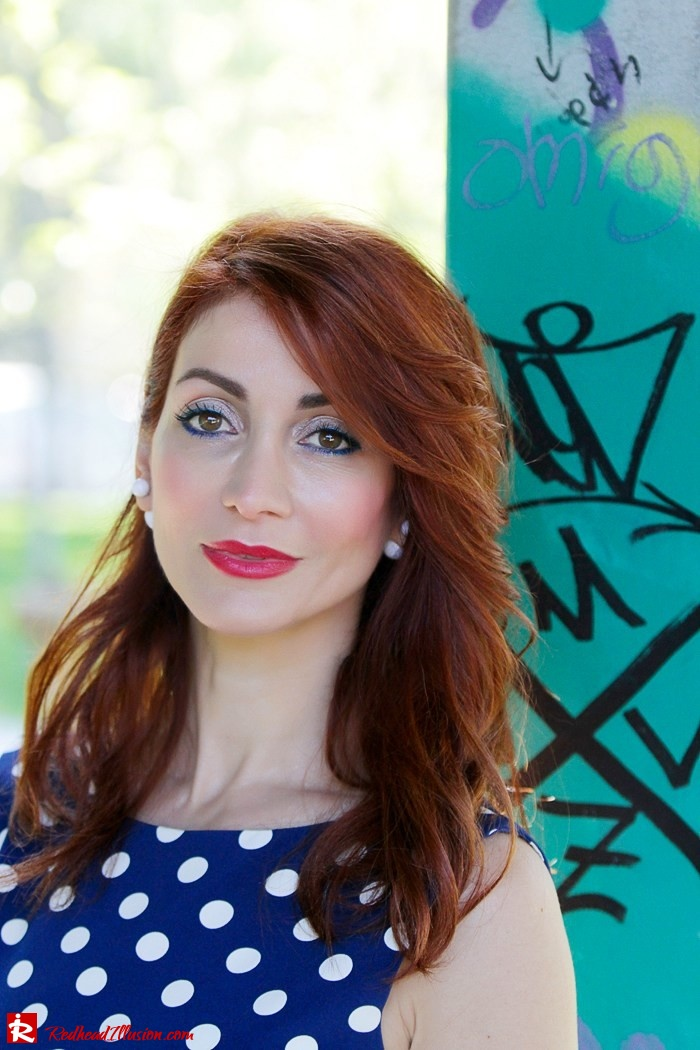 Redhead Illusion - Fashion Blog by Menia - Fashion Dots - Denny Rose Polka Dot Dress-04