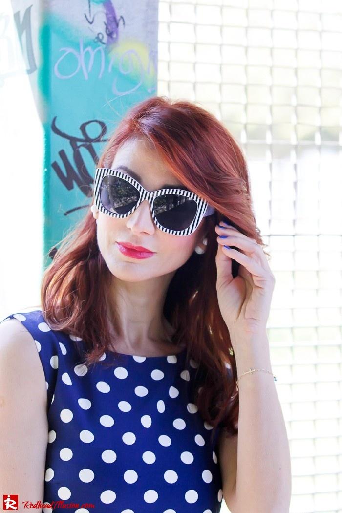 Redhead Illusion - Fashion Blog by Menia - Fashion Dots - Denny Rose Polka Dot Dress-06