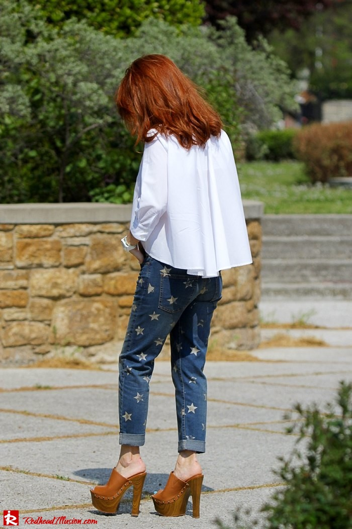 Redhead Illusion - Fashion Blog by Menia - Not classic - Denny Rose Jeans and Shirt-10