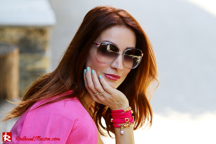 Redhead Illusion - Fashion Blog by Menia - Simplicity - White Dress - Gucci Sunglasses - Sugarcube Bag-06