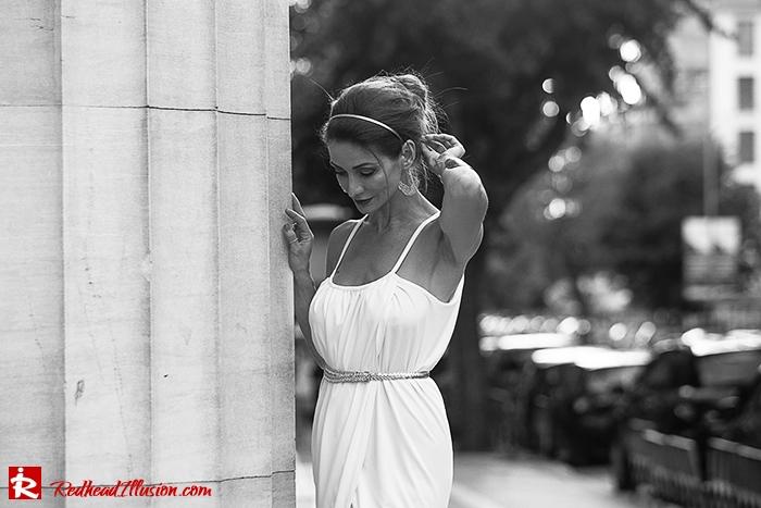 Redhead Iillusion - Fashion Blog by Menia - Grecian style - White Draped Dress-11