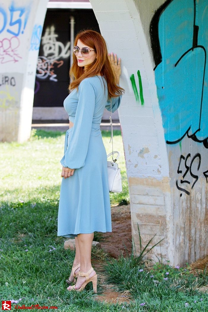Redhead Illusion - Fashion Blog by Menia - Contrasts - Asos Dress - Gucci Sunglasses-12