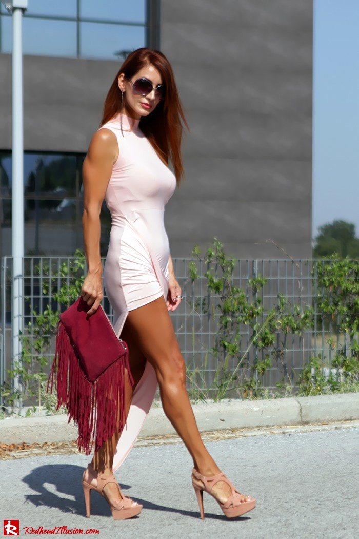 Redhead Illusion - Fashion Blog by Menia - Innocent... Pink - Asos Dress-02