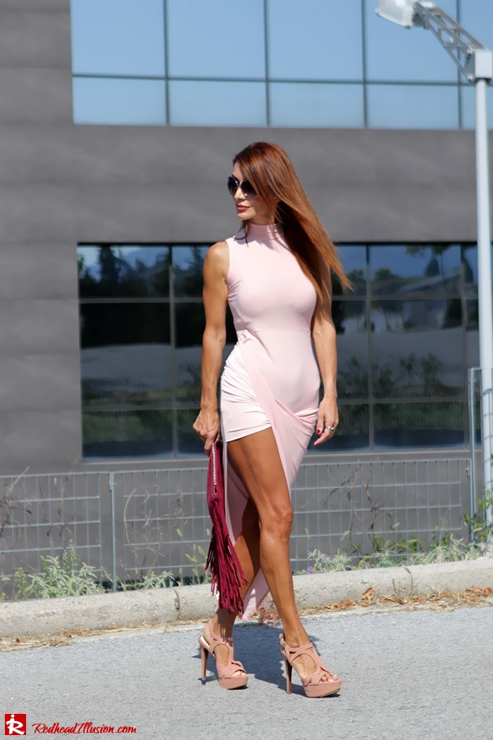 Redhead Illusion - Fashion Blog by Menia - Innocent... Pink - Asos Dress-03