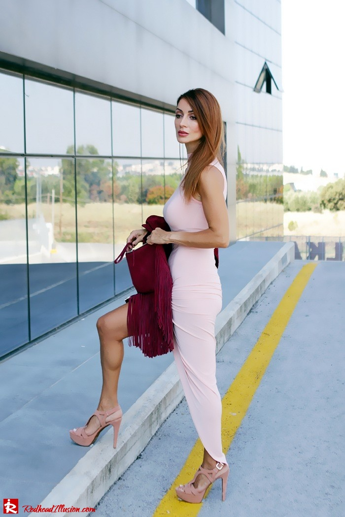 Redhead Illusion - Fashion Blog by Menia - Innocent... Pink - Asos Dress-08