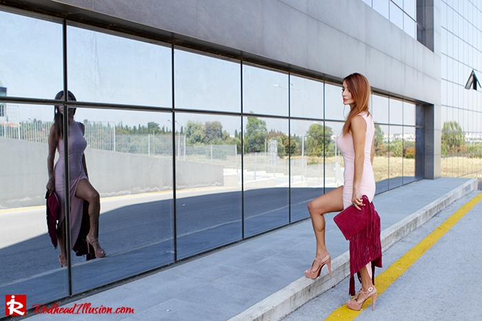 Redhead Illusion - Fashion Blog by Menia - Innocent... Pink - Asos Dress-09