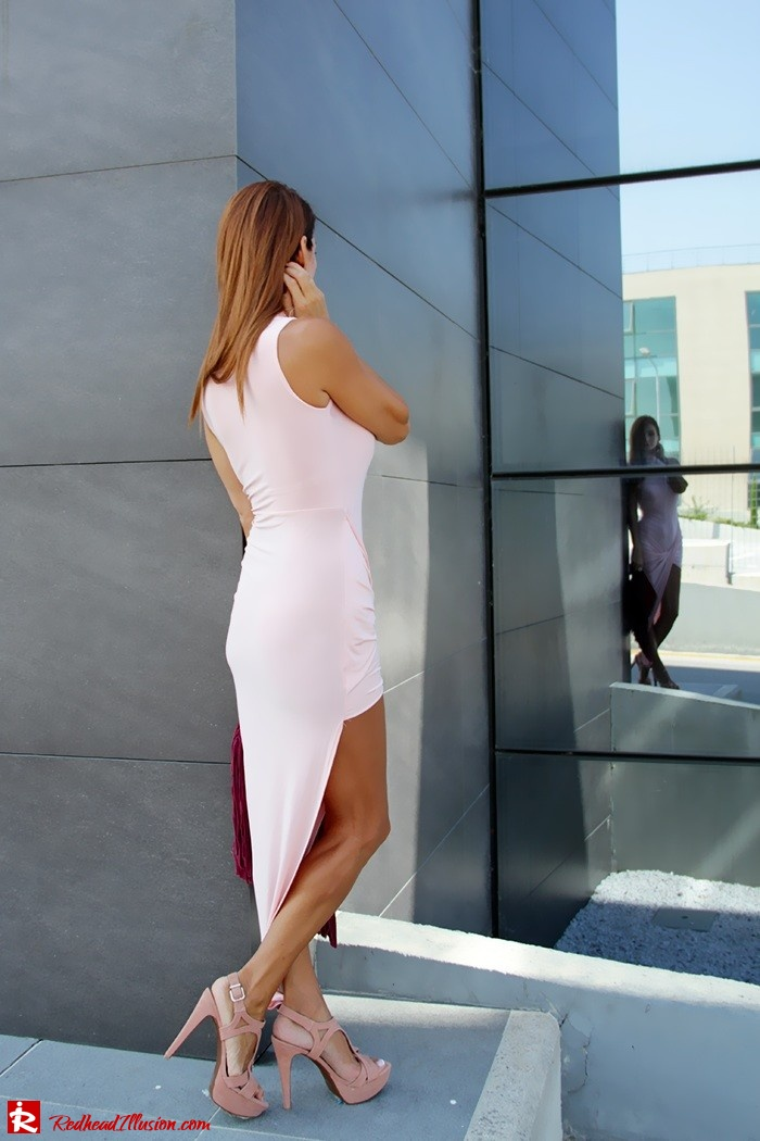 Redhead Illusion - Fashion Blog by Menia - Innocent... Pink - Asos Dress-10