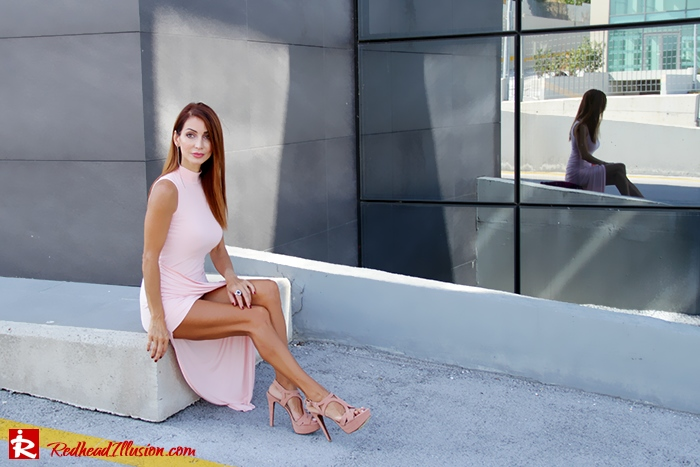 Redhead Illusion - Fashion Blog by Menia - Innocent... Pink - Asos Dress-11