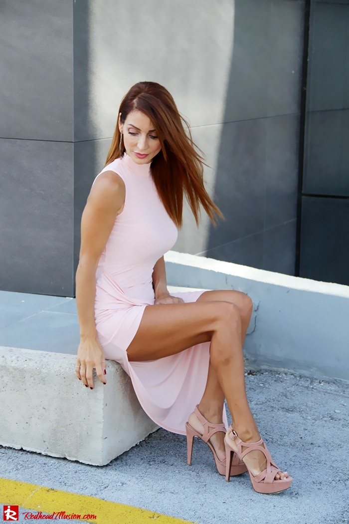 Redhead Illusion - Fashion Blog by Menia - Innocent... Pink - Asos Dress-12