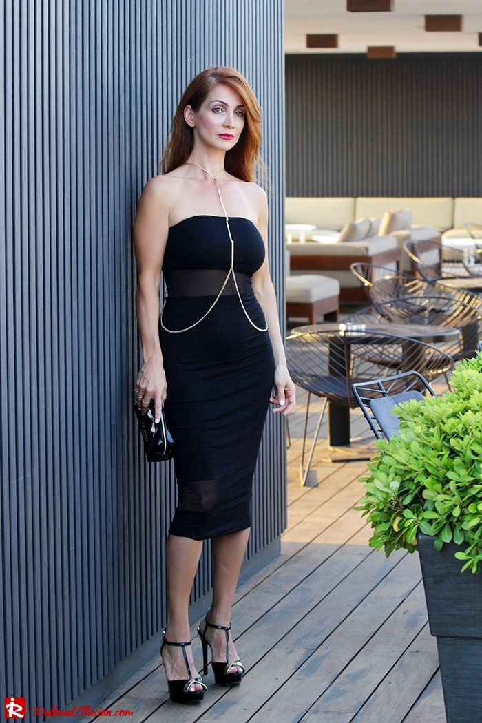 Redhead Illusion - Fashion Blog by Menia - Little Black Dress Asos - Ted Baker Clutch-02