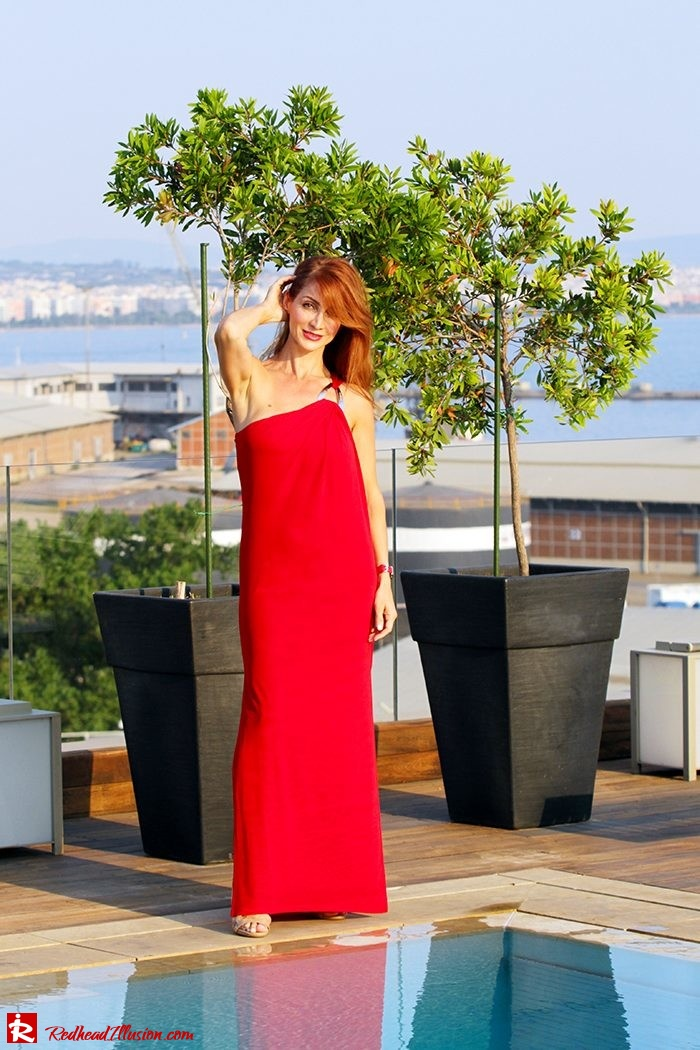 Redhead Illusion - Fashion Blog by Menia - Red party - Michael Kors Red dress-02