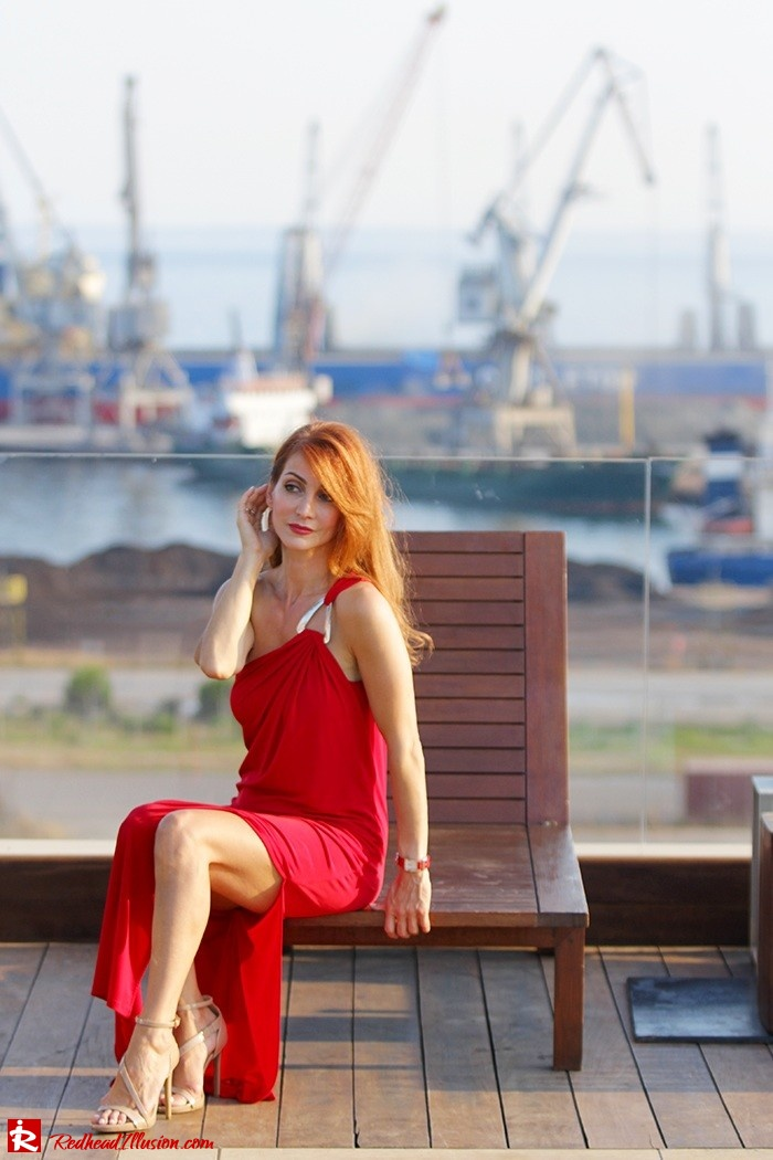 Redhead Illusion - Fashion Blog by Menia - Red party - Michael Kors Red dress-06