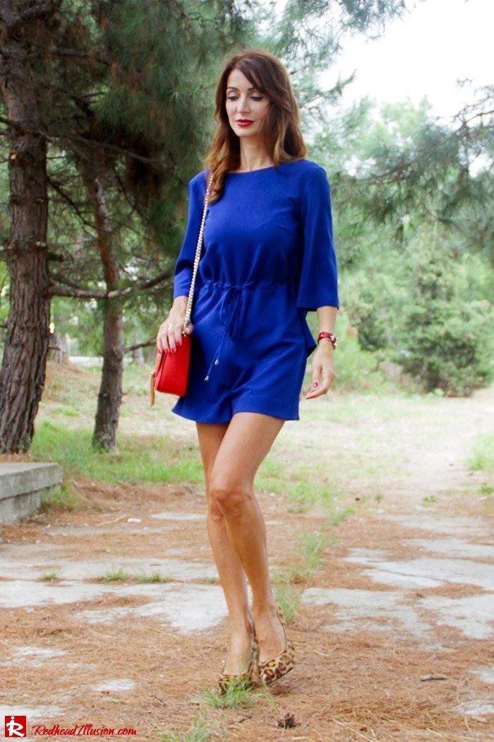 Redhead Illusion - Fashion Blog by Menia - Lost... in blue - Playsuit-03