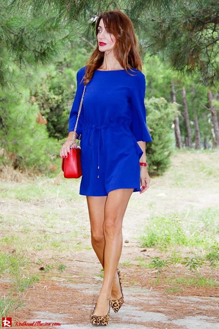 Redhead Illusion - Fashion Blog by Menia - Lost... in blue - Playsuit-09