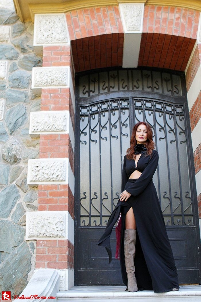 Redhead Illusion - Fashion Blog by Menia - Black Flower - Black Dress - Zara Bag-08