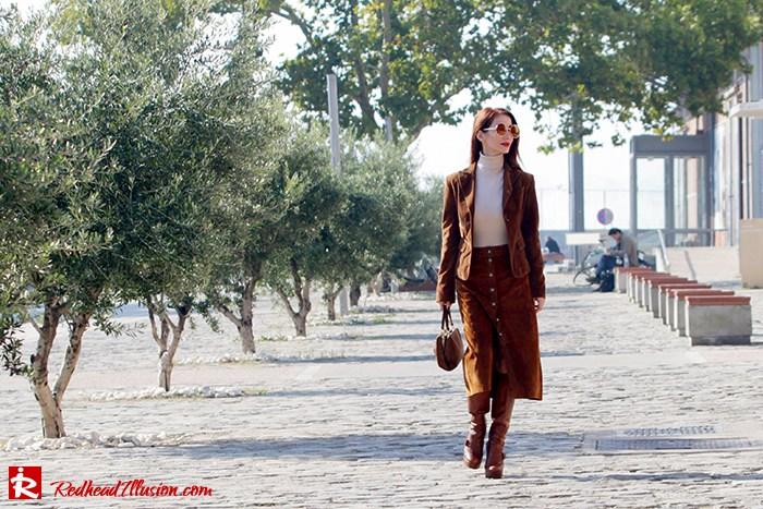 Redhead Illusion - Fashion Blog by Menia - Cafe au lait - Zara- Skirt - Karen Millen Blouse-02