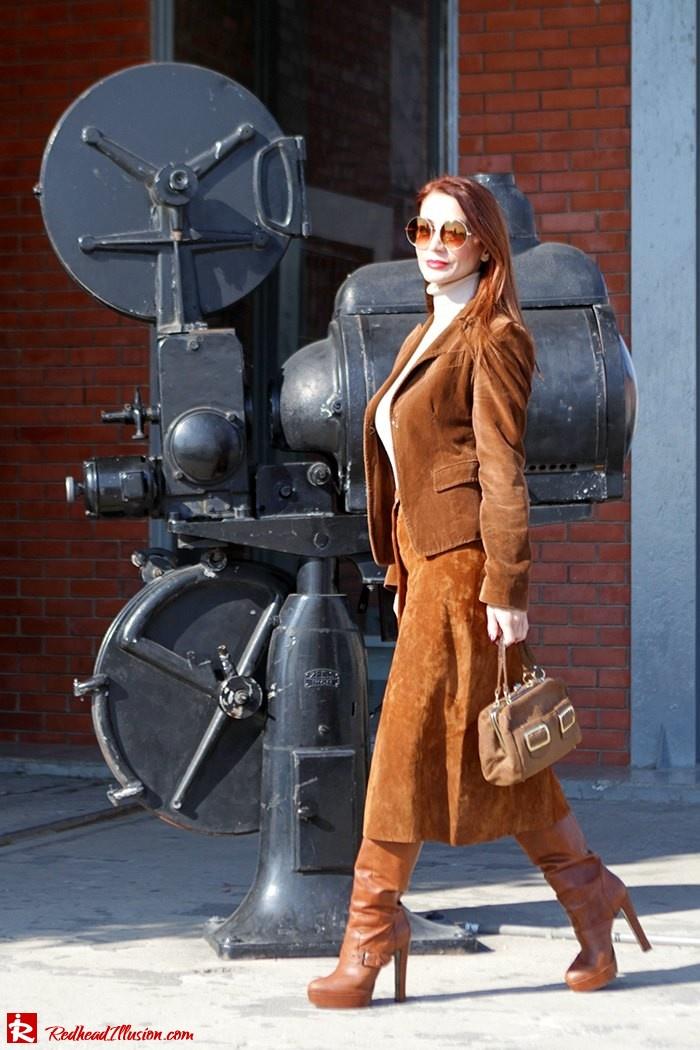 Redhead Illusion - Fashion Blog by Menia - Cafe au lait - Zara- Skirt - Karen Millen Blouse-04