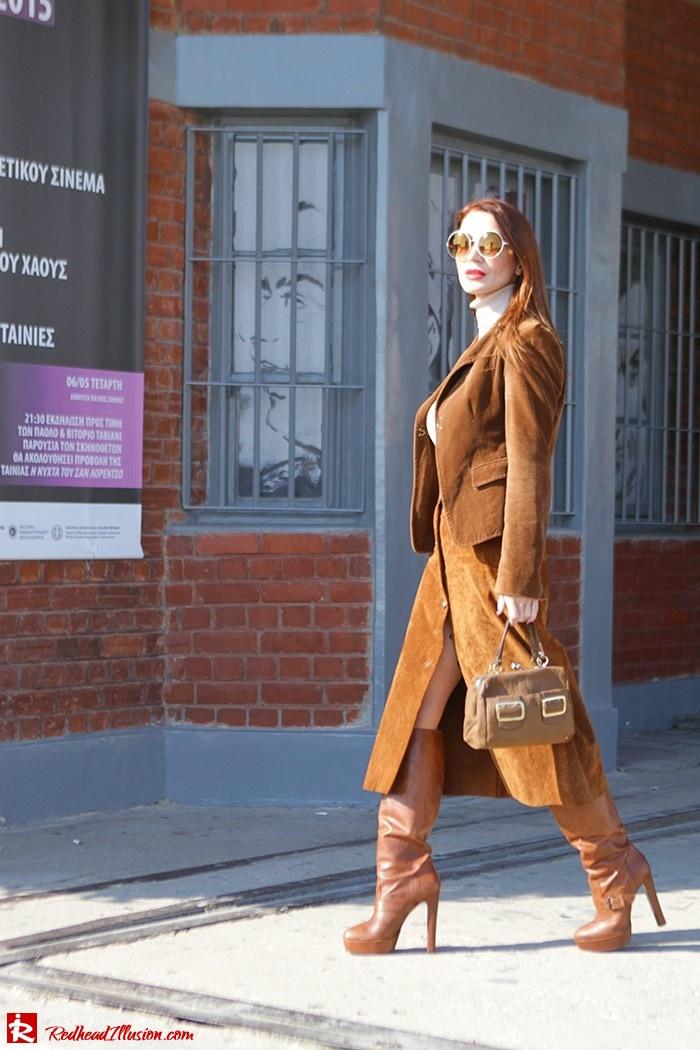 Redhead Illusion - Fashion Blog by Menia - Cafe au lait - Zara- Skirt - Karen Millen Blouse-05