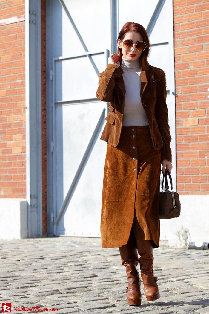 Redhead Illusion - Fashion Blog by Menia - Cafe au lait - Zara- Skirt - Karen Millen Blouse-07