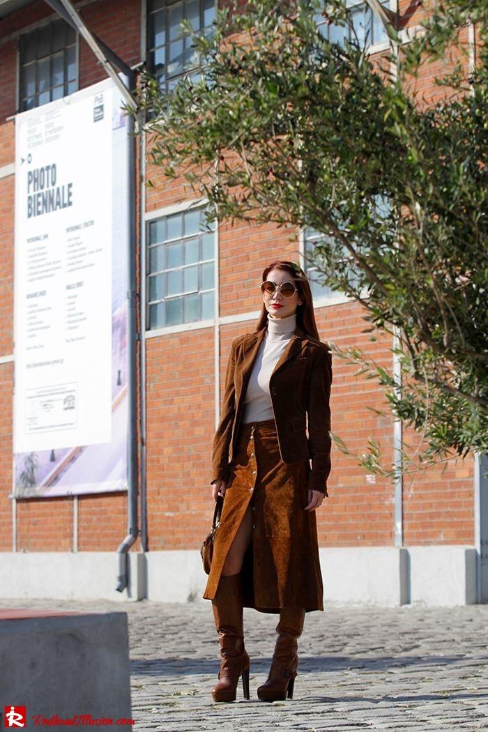 Redhead Illusion - Fashion Blog by Menia - Cafe au lait - Zara- Skirt - Karen Millen Blouse-08