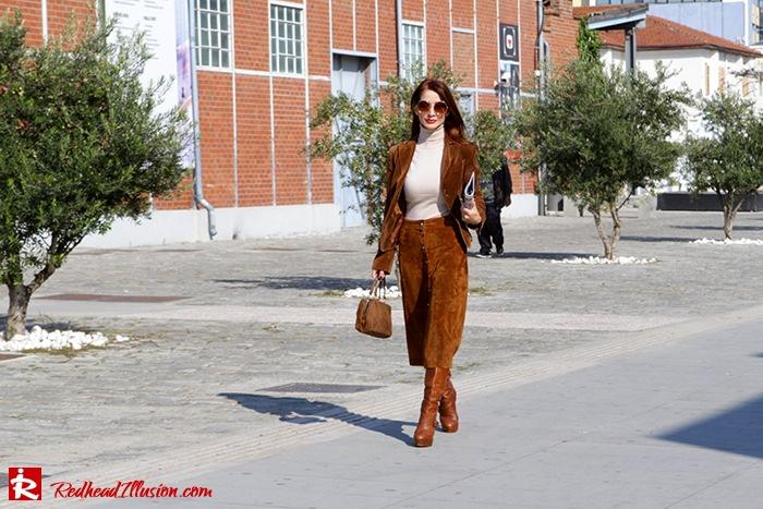 Redhead Illusion - Fashion Blog by Menia - Cafe au lait - Zara- Skirt - Karen Millen Blouse-09