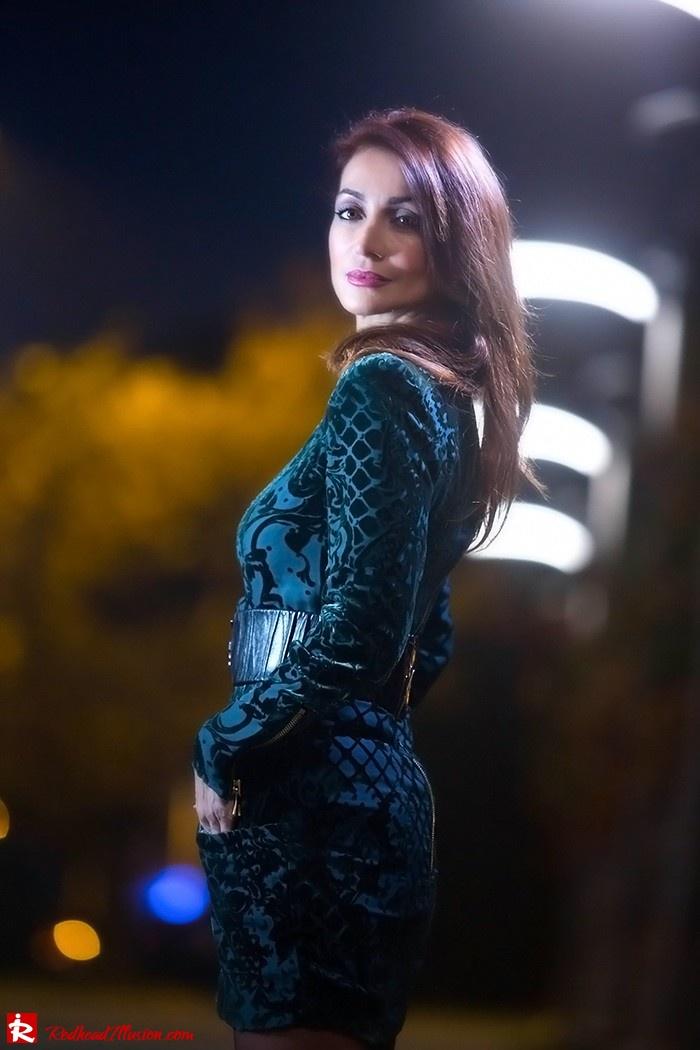 Redhead Illusion - Fashion blog by Menia - Christmas Night Vision - Balmain Dress-07