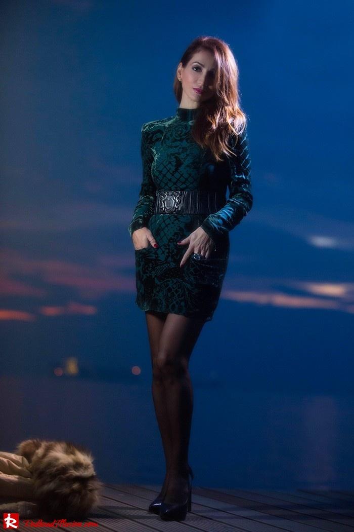 Redhead Illusion - Fashion blog by Menia - Christmas Night Vision - Balmain Dress-09