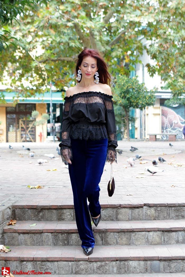 Redhead Illusion - Fashion Blog by Menia - Lace and Velvet - Victoria's Secret Blouse-09