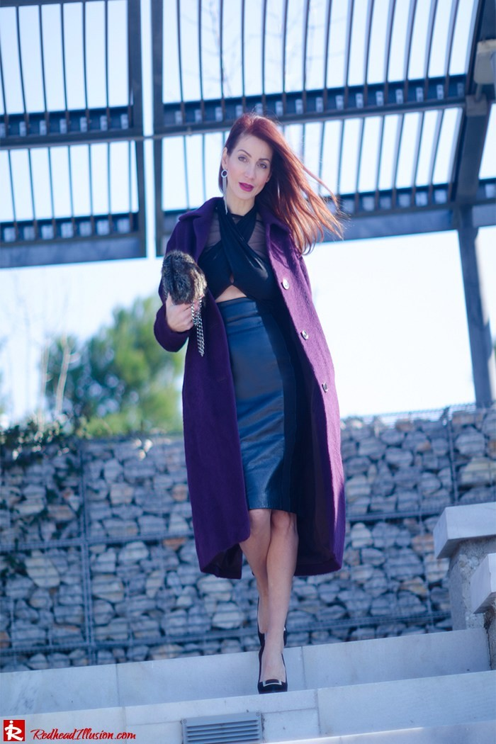 Redhead Illusion - Fashion Blog by Menia - A cropped... day - Yoins Top - Zini Skirt - Boss Coat-01
