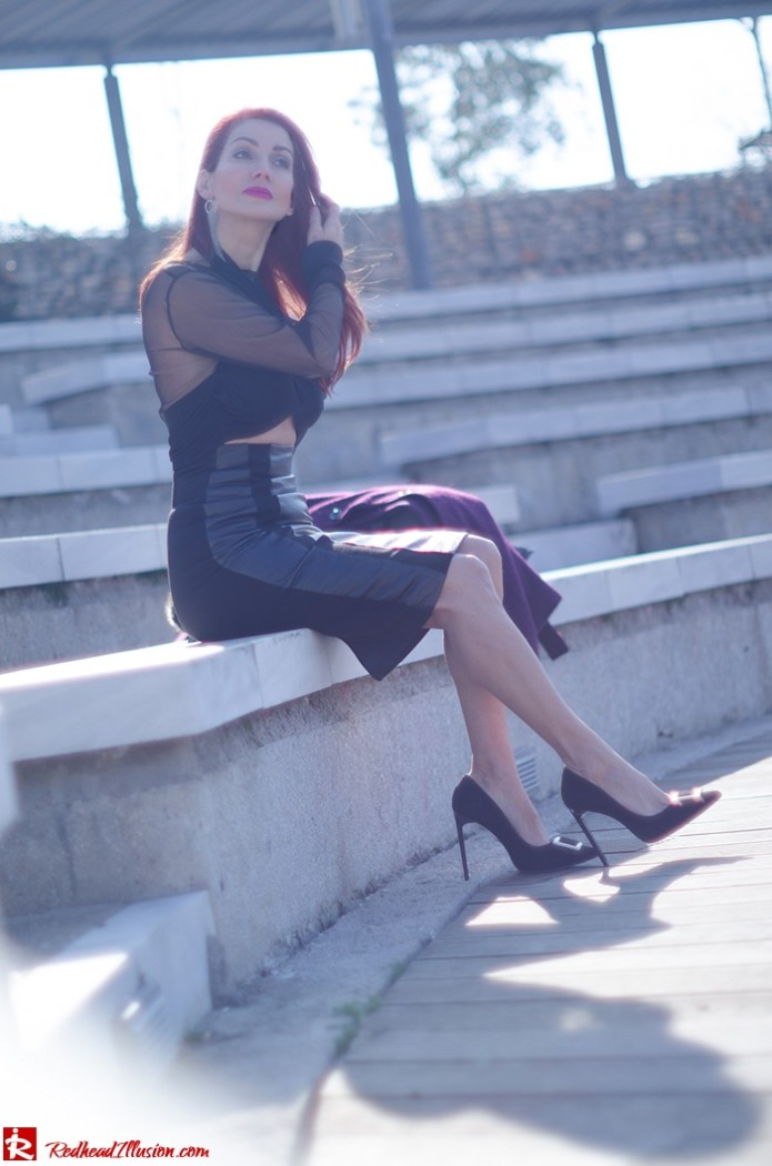 Redhead Illusion - Fashion Blog by Menia - A cropped... day - Yoins Top - Zini Skirt - Boss Coat-04