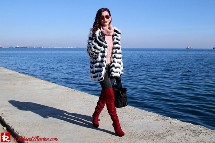 Redhead Illusion - Fashion Blog by Menia - Walk along the waterfront - ( OTK ) Over the knee Boots-04